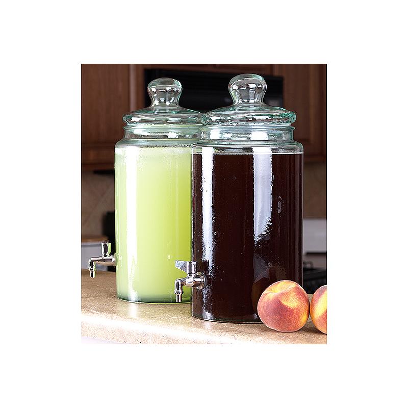 Robinet en verre pour vinaigrier auralum elegant mitigeur - Bouchon pour vinaigrier avec robinet bois ...