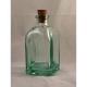 24 mini bouteilles Carrée 100 ml en verre recyclé