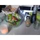 Salière/Poivrière en verre recyclé avec couvercle troué en inox