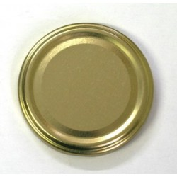 100 Twist-off Caps gold color 66mm