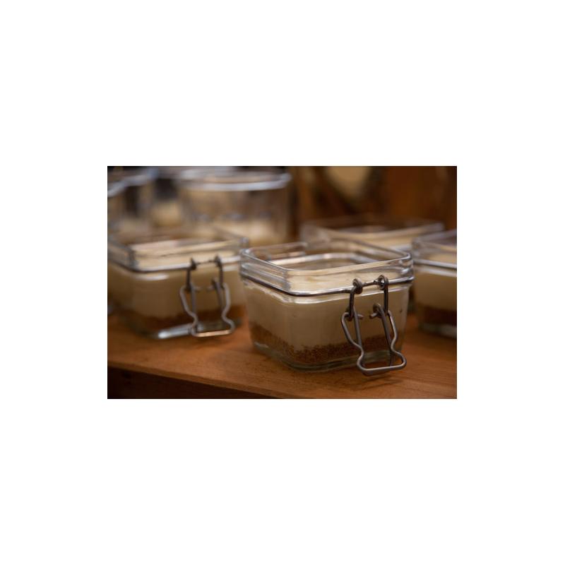 1 bocal le carr en verre 200 ml fermeture m canique for Prix tuile mecanique en verre