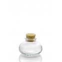 24 Mini bocales CALABAZA 90 ml con tapón en corcho