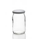 100 Potes de Yogur, en vidrio liso, capacidad 180 ml