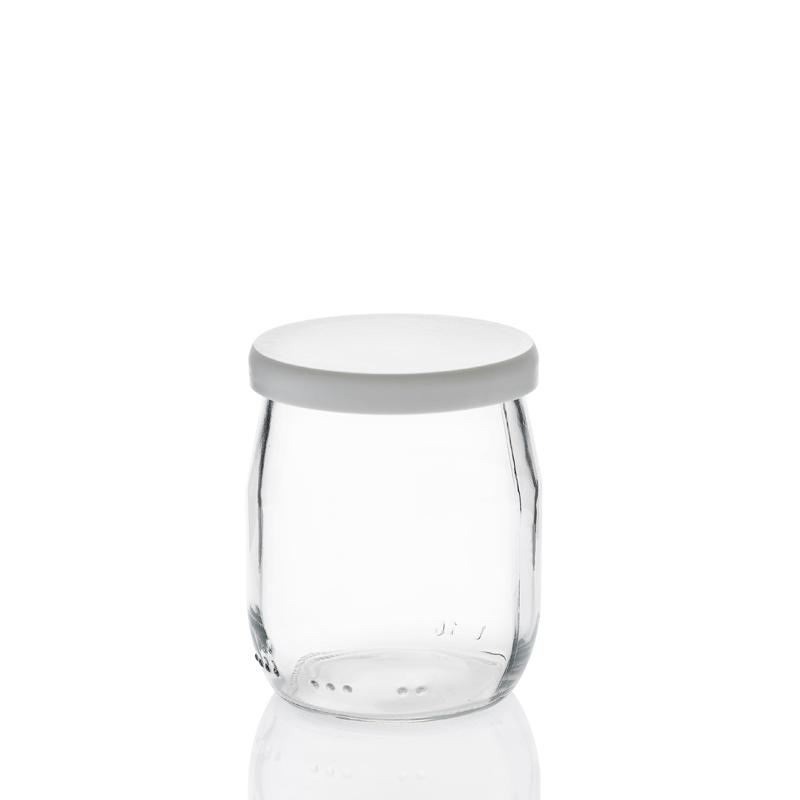 24 capsules en pvc blanche pour pot de yaourt 125 grammes. Black Bedroom Furniture Sets. Home Design Ideas