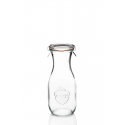 6 bottles WECK® Flacon® 540 ml lids in glass and rubber rings (clips not included)