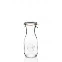 6 flessen WECK® Flacon® 540 ml met deksels in glas en verbindingsstukken (niet ingesloten clips)