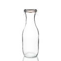 WECK®-Saftflasche 1062 ml (Rundrand 60) 6 Gläser / Karton inklusive Glasdeckel und Einkochringe / Karton (ohne Klammern)