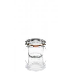 12 Bocaux en verre Weck Droits 80 ml avec couvercle et joint (clips non inclus)