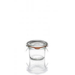 12 glass jars WECK® mold shpae DROIT 80 ml with seals and lids (clips not included)