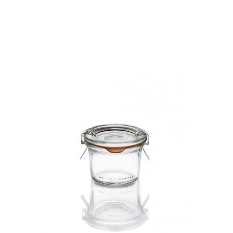 24 Bocaux en verre Weck Droits 80 ml