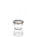 12 Bocaux en verre Weck® droits 80 ml avec couvercle et joint (clips non inclus)