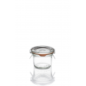 12 tarros en vidrio Weck Droit 80 ml con tapa y gomas incluidos (clips no incluidos)l