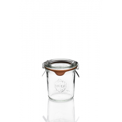 12 glass Jars Weck® DROIT mol shape 140 ml with lids and rubber rings (clips not included)