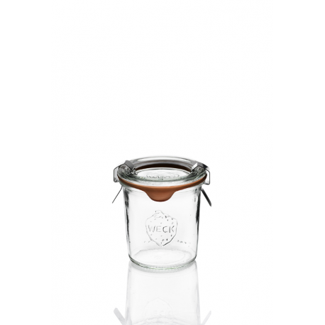 12 glass jars Weck Droits 140 ml