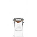 12 tarros en vidrio Weck® derechos DROIT 140 ml con tapas y gomas (clips no incluidos)
