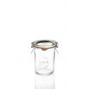 12 Bocaux en verre Weck® Droits 160 ml avec couvercles en verre et joints (clips non inclus)