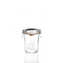 12 glass jars Weck® Droit 160 ml mold shape  with rubber rings and glass lids (clips not included)