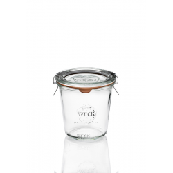 6 glass jars WECK® mold DROIT 290 ml Hight with rubber rings and glass lids (clips not included)