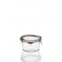 12 Copelas en vidrio Weck especial Foie-gras, 165 ml  Tapas en vidrio y gomas (clips no incluidos).