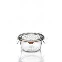 6 Bocaux Weck® Droits 290 ml Plats, diamètre 100 mm avec couvercles en verre et joints (clips non inclus)