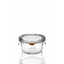 6 tarros Weck® derechos DROIT 290 ml Plano, diámetro 100 mm. con tapas en vidrio y gomas (clips no incluidos)
