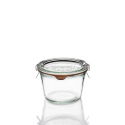 6  glass Jars WECK® DROIT 370 ml with lids and rubber rings (clips not included)