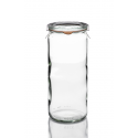 6 jars WECK® Tube® 1040 ml with lids out of glass and rubber rings (clips not included)