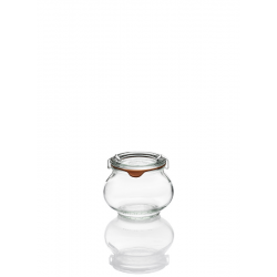 12 glass jars WECK® Fête® 220 ml with glass lids and rubber rings (clips not included)