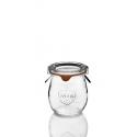 WECK®-Mini-Tulpenglas 220 ml (Rundrand 60) 12 Gläser inklusive Glasdeckel und Einkochringe / Karton (ohne Klammern)