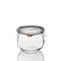 6 WECK® glass jars Corolle® 580 ml with glass lids and rubber rings (clips not included)