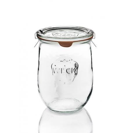 6 glass jars Weck Corolle 1062 ml