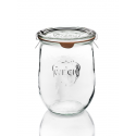 6 glass jars WECK® Corolle® 1062 ml with lids and rubber rings (clips not included)