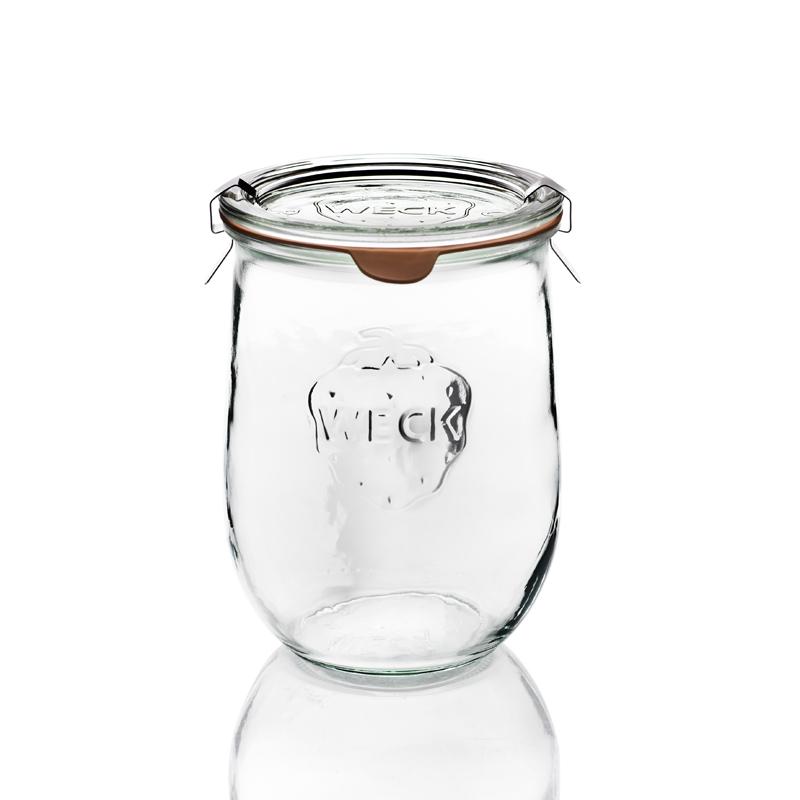 6 vasi in vetro weck corolle 1062 ml con coperchi in for Vasi ermetici vetro