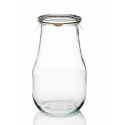 4 glass jars WECK Corolle® 2700 ml with glass lids and rubber rings (clips not included)
