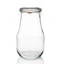 4 vasi in vetro WECK Corolle® 2700 ml con coperchi in vetro e guarnizioni (graffe non incluse)