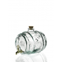 Tonneau en verre 100% recyclé, 2 litres + robinet