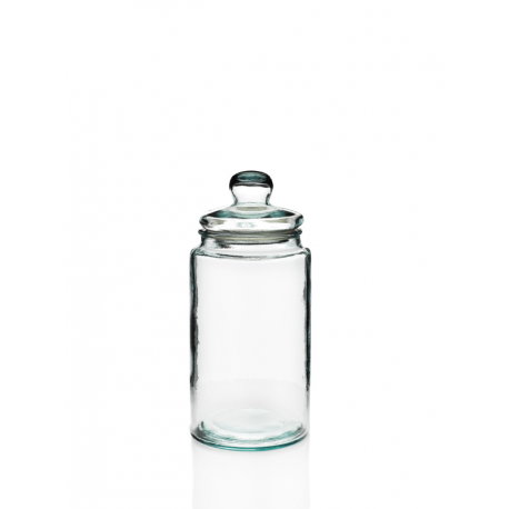 Bonbonnière Cylindrique 6 litres, avec couvercle en verre, 100% recyclé