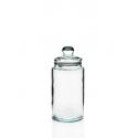 Bombonera Cilíndrica 6 litros con tapa en vidrio 100% reciclada