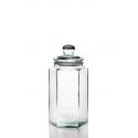 Bonbonnière Hexagonale 6,5 litres, avec couvercle en verre