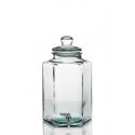 Grande vaso, damigiana /bonbonniera esagonale, in vetro 11.5 L