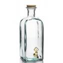 6 bouteilles 2 litres Frasco Carrée avec robinet