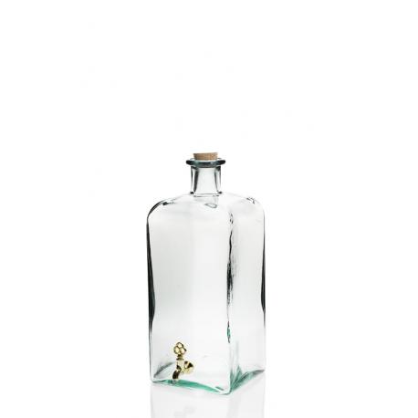 Grande bouteille 5 Litres FRASCO carrée avec robinet