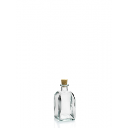 24 mini bouteilles 100 ml Frasco Carrée en verre recyclé