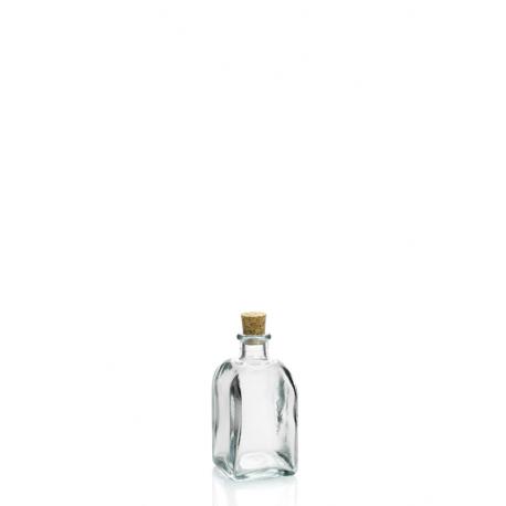 24 mini bouteilles 100 m Frasco Carrée en verre recyclé