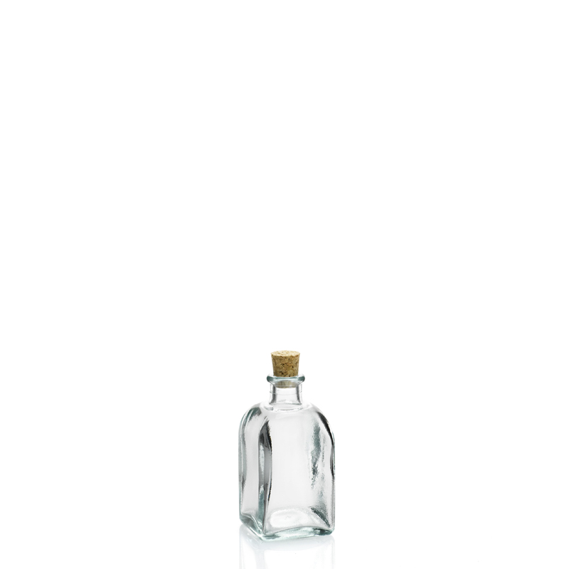 24 mini bouteilles 100 ml frasco carr e en verre recycl. Black Bedroom Furniture Sets. Home Design Ideas