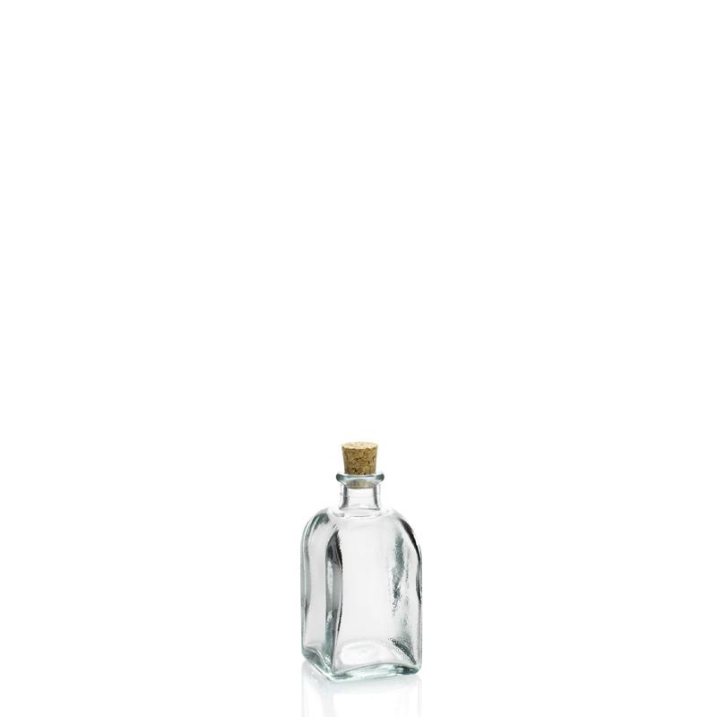 24 mini bouteilles carr 233 e en verre recycl 233 100 ml mcm emballages