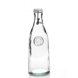 1 Bouteille en verre 100% recyclé, capsule mécanique emballée