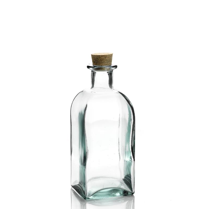 Bouteille 1 litre frasco carr e avec bouchon li ge mcm emballages - Petite bouteille en verre ikea ...