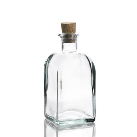 6 bouteilles Frasco Carrée en verre recyclé 250 ml