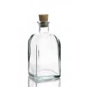 6 bouteilles 250 ml Frasco Carrée en verre recyclé